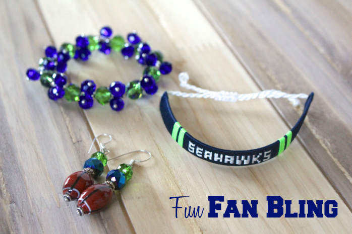 Show off some pretty bling to support your favorite team
