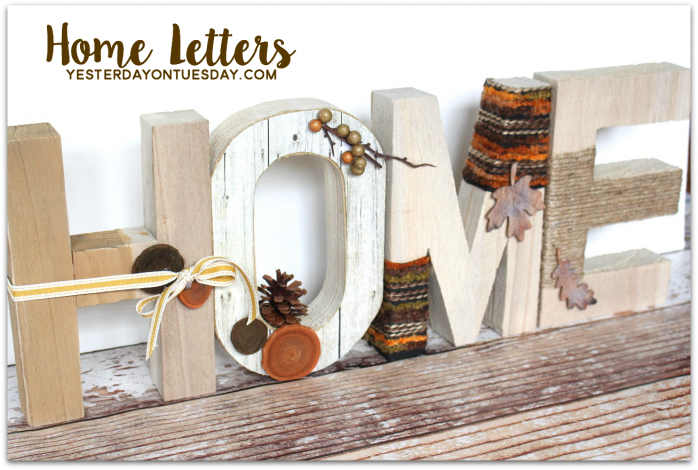 Decorated Home Letters, a great craft for fall