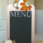 Menu Board Sign created with Metallic Lustre Wax