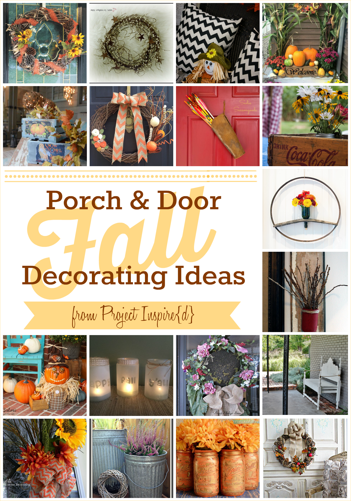 Fall Porch and Door Decorating Ideas