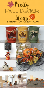 Pretty Fall Decor ideas to decorate your home for autumn and Thanksgiving!