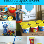 Free School Snacks Party Set including invites, spoon flags and tags, fun for back to school