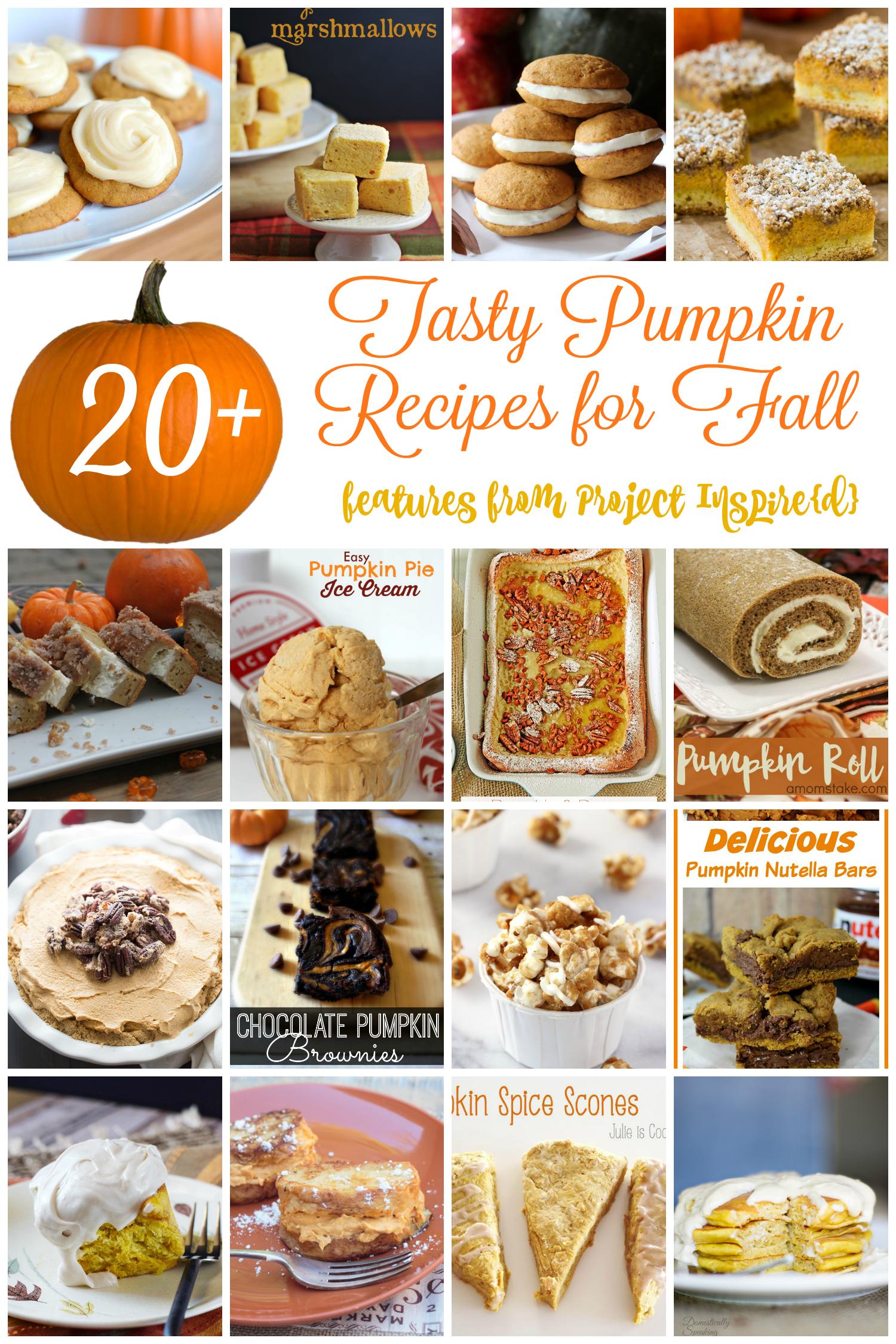 20+ Tasty Pumpkin Recipes for Fall