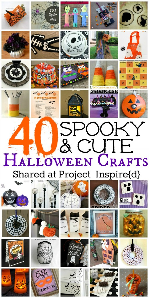 40 Spooky & Cute Halloween Crafts shared at Project Inspire{d}
