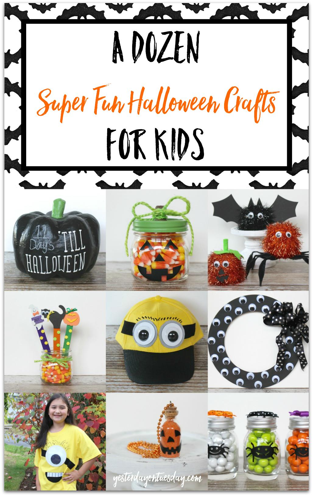 A Dozen Halloween Crafts for Kids