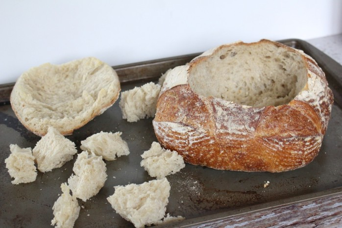 Bread Bowl Out of Oven