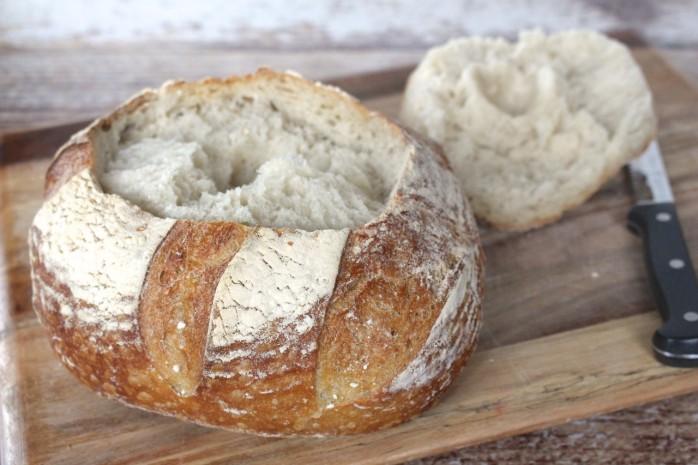 Cutting Top off Bread