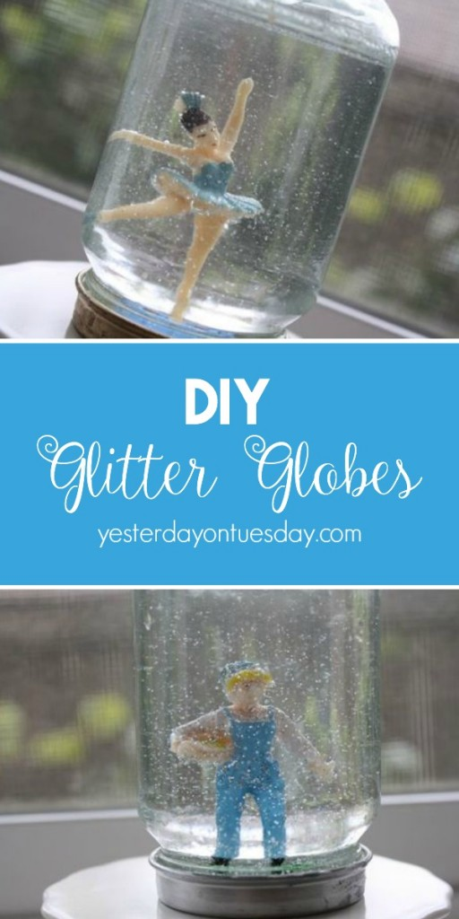 How to make glitter globes