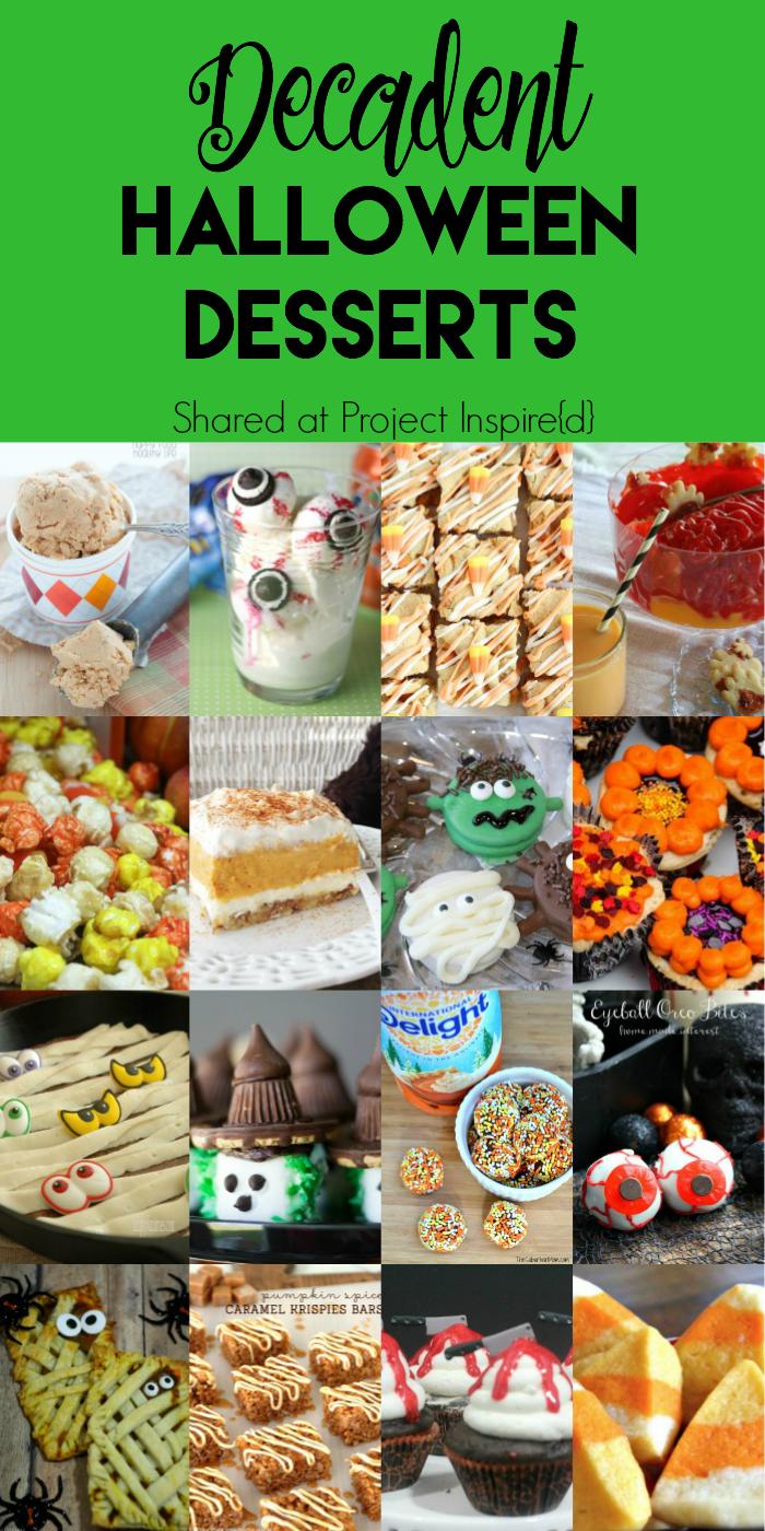 Decadent Halloween Desserts