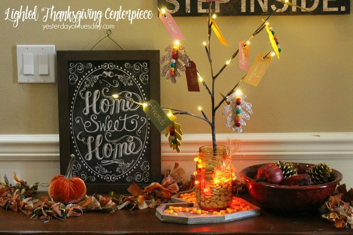 How to make a meaningful centerpiece or decor item for Thanksgiving