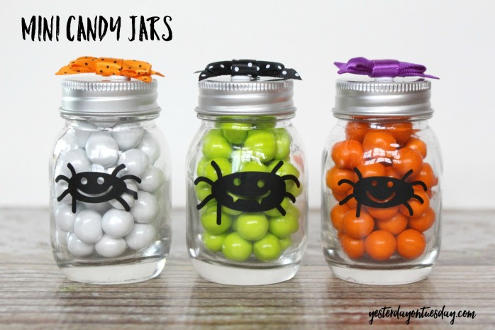 Mini Candy Jars, a cute Halloween craft for kids