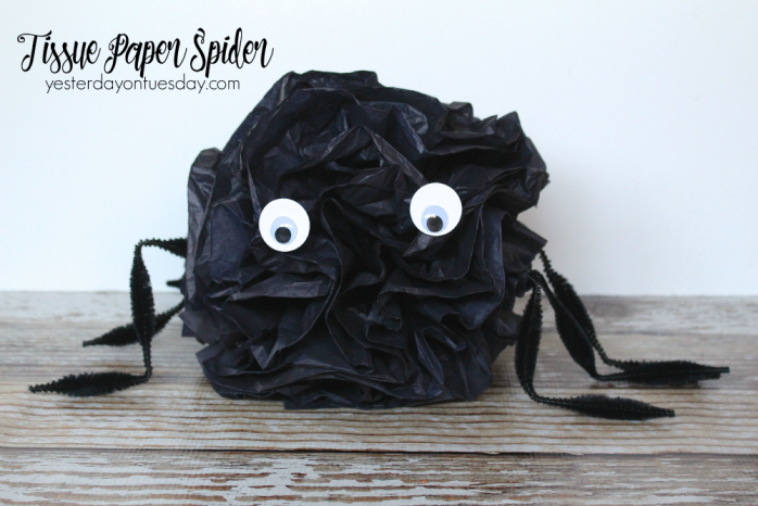 Transform tissue paper into a cute spider