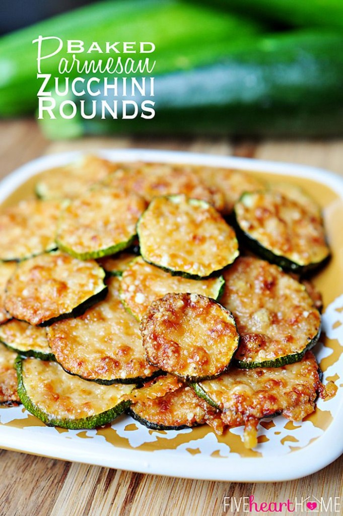 Baked Parmesean Zucchini Rounds
