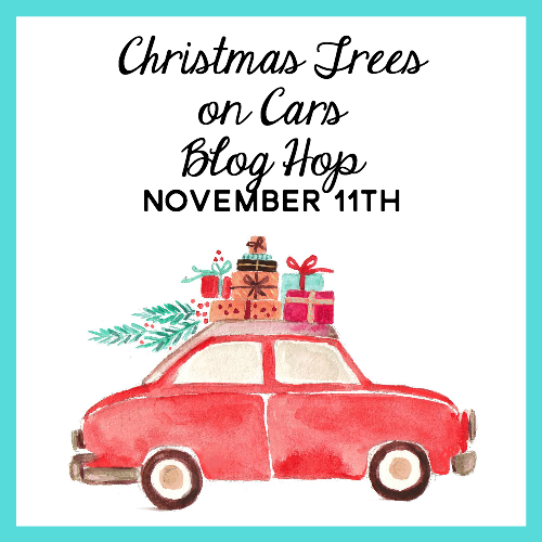 Christmas Trees on Cars Square Graphic