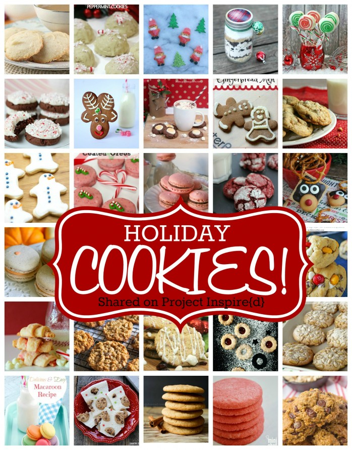 A delicious round up of holiday cookie recipes, shared at Project Inspire{d}! One to pin for Christmas entertaining.