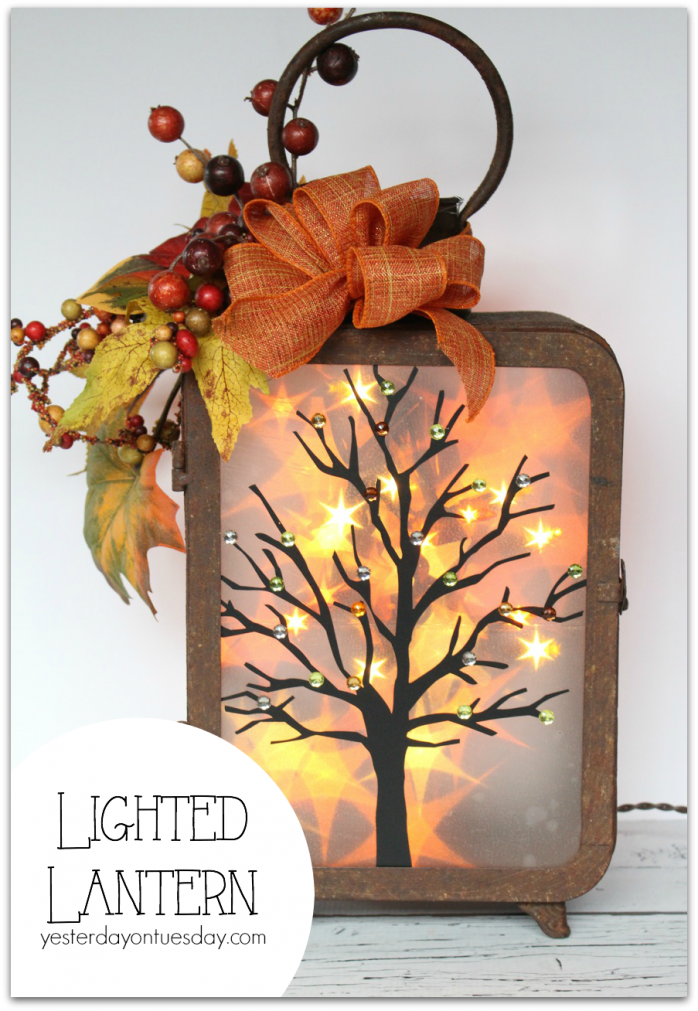 Lighted Lantern, a cool Thanksgiving decor project