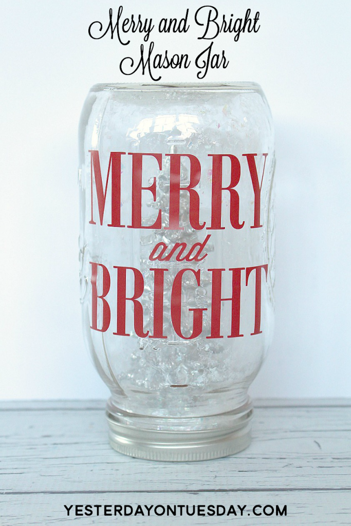 Merry and Bright Mason Jar, a great Christmas craft