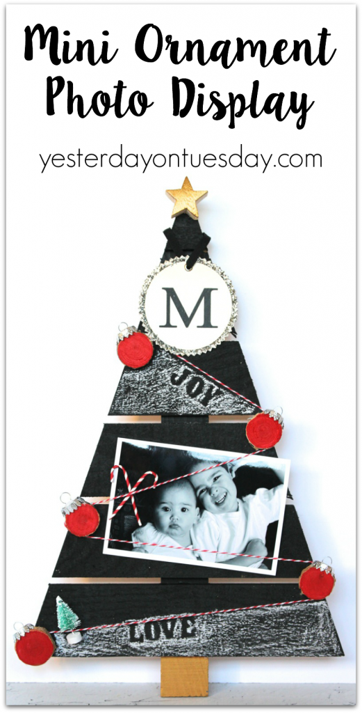 How to make a Mini Ornament Photo Display, a meaningful way to display photos for Christmas
