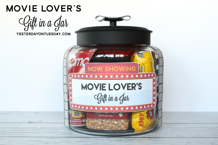 Movie Lover's Gift in a Jar with printable labels, tags and more.