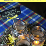 Easy Rustic Mason Jar Centerpiece for Thanksgiving