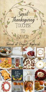 A collection of lovely details to make your Thanksgiving extra special