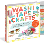 Washi Tape Crafts Book by Amy Anderson, a fun holiday gift idea for the creative person on your Christmas list. It even comes with lovely patterned washi tape to make cool stuff with!