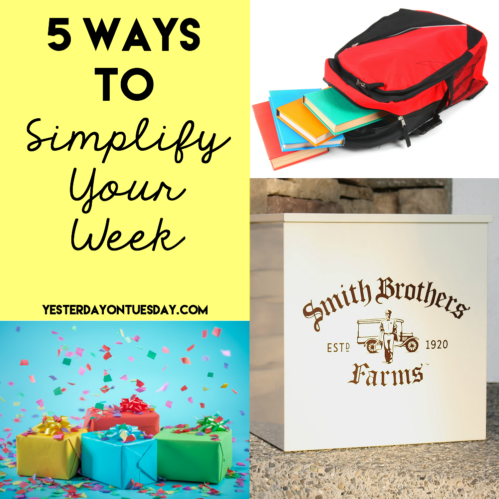 5 Ways to Simplify Your Week