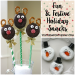 Fun and Festive Holiday Snacks: A Reindeer and a Snowman make great treats