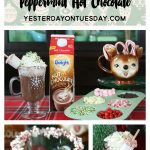 Grown Up Peppermint Hot Chocolate drink recipe, perfect for holiday entertaining