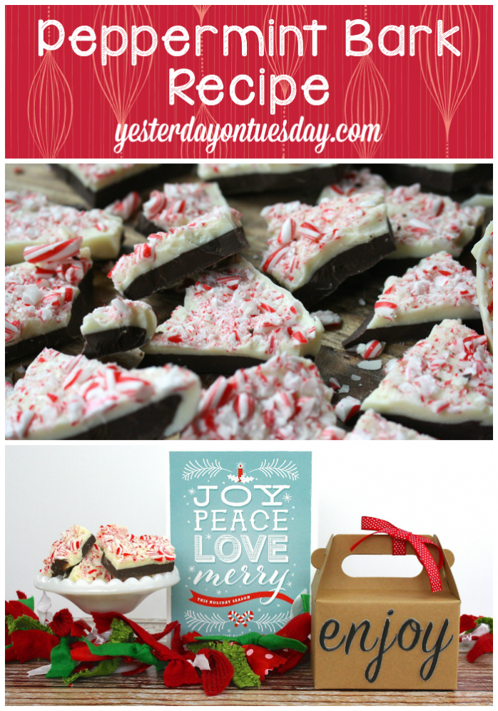Peppermint Bark recipe, great for holiday gift giving and entertaining. A delicious Christmas treat.