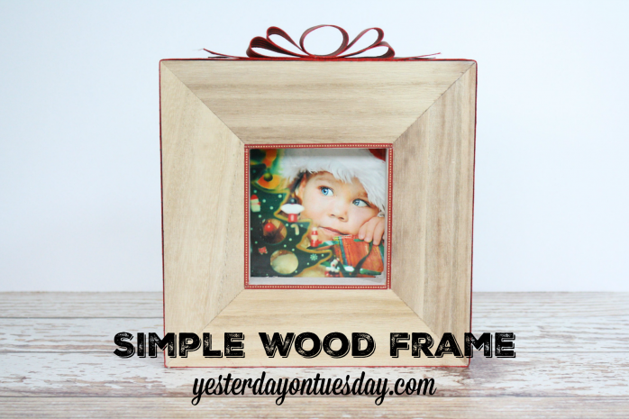 Make a Simple Wood Frame for Christmas decor