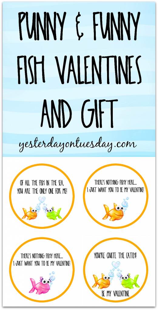 photo about Goldfish Valentine Printable named Fish Valentines and Present Yesterday Upon Tuesday