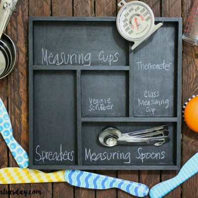 Chalkboard Kitchen Drawer Organizer