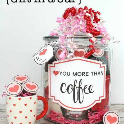 Coffee Lover's Gift in a Jar with Valentine's Day Printables