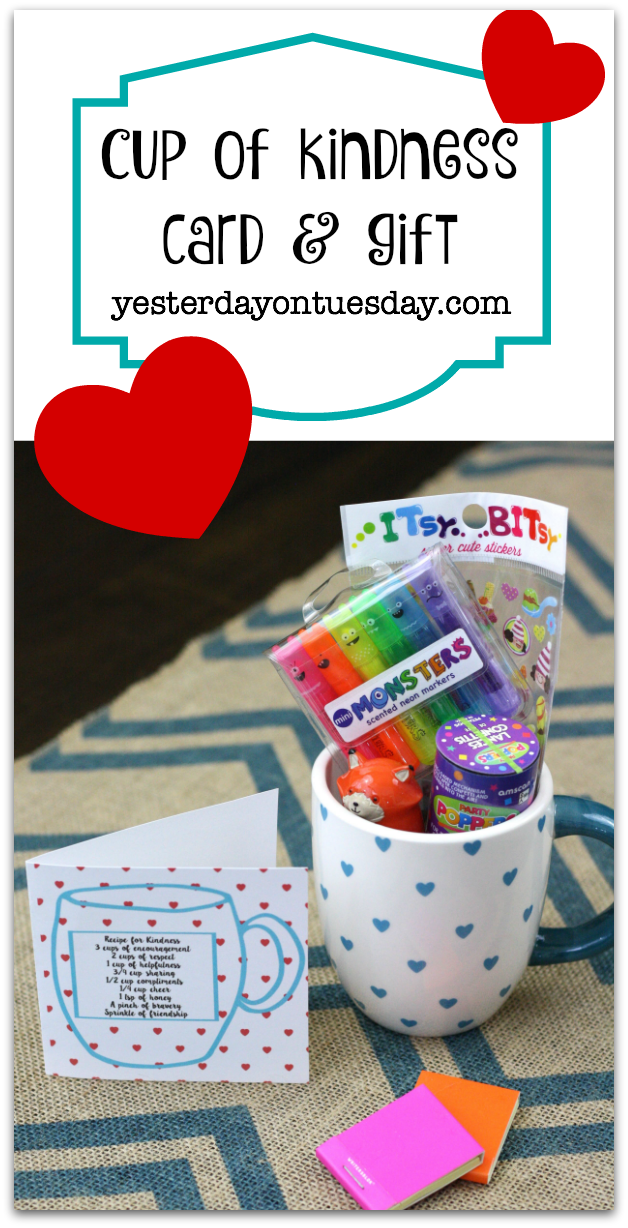Cup of Kindness printable card and gift idea, a great way to say thanks to a special friend