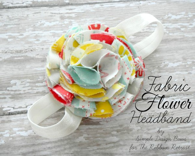 DIY Fabric Flower Headband