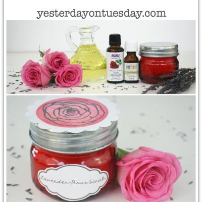 Lavender-Rose Scrub