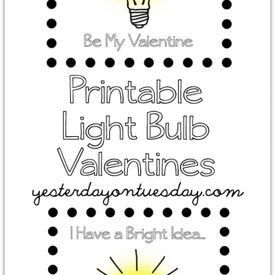 Printable Light Bulb Valentines