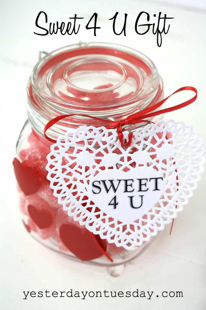 Sweet 4 U Gift in a mason jar