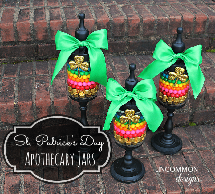 Apothecary Jars for St. Patricks Day by Uncommon Designs