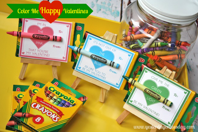 Free Printable Color Me Happy Valentines