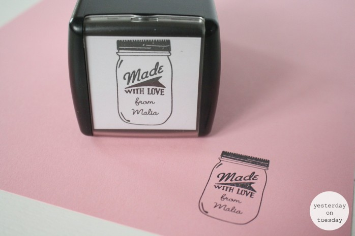 Lovely customized mason jar stamp from @Expressionery, great for labels and tags