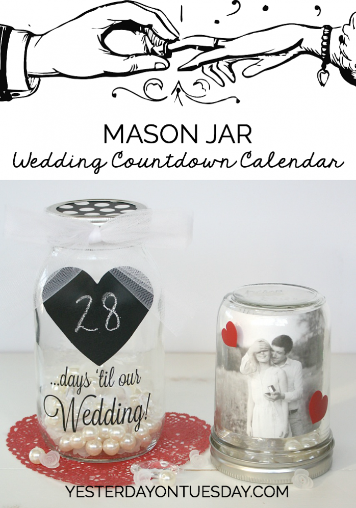mason jar wedding countdown calendar