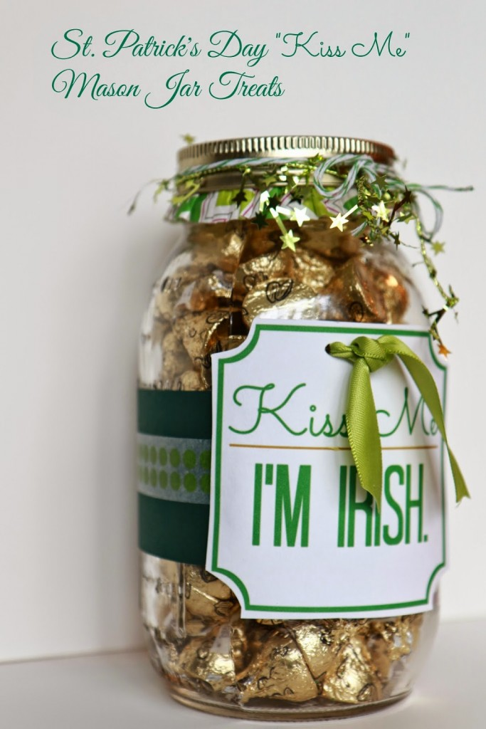 Kiss Me Treat Jar by Southern Scraps