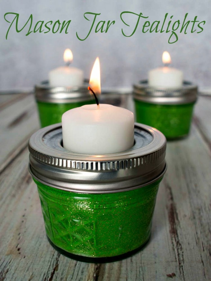 Mason Jar Tealights by Upstate Ramblings