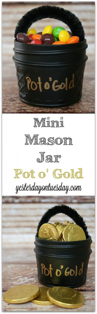 Mini Mason Jar Pot o Gold by Yesterday on Tuesday