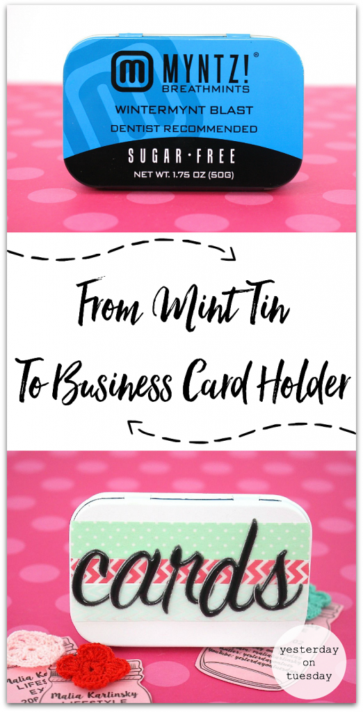 How to transform a mint tin into a cute business card holder! Awesome and free hack and great recycling/upcycling idea.