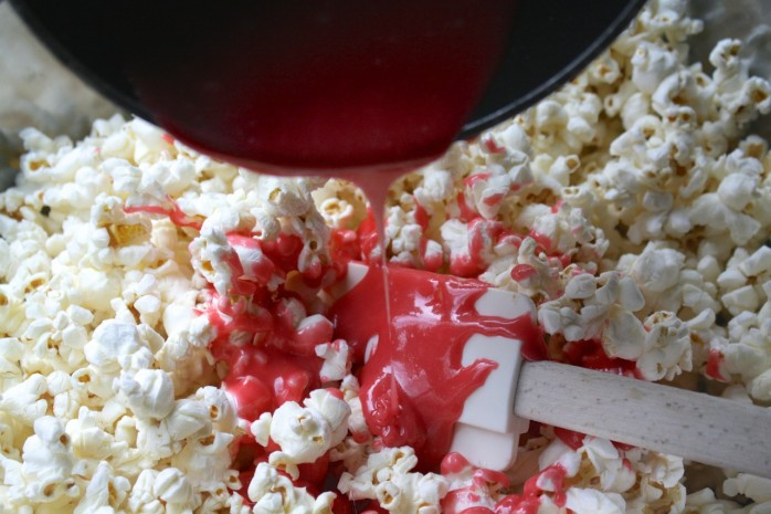 ummy Valentine's Day Popcorn Recipe, an easy and delicious snack or treat for Valentine's Day