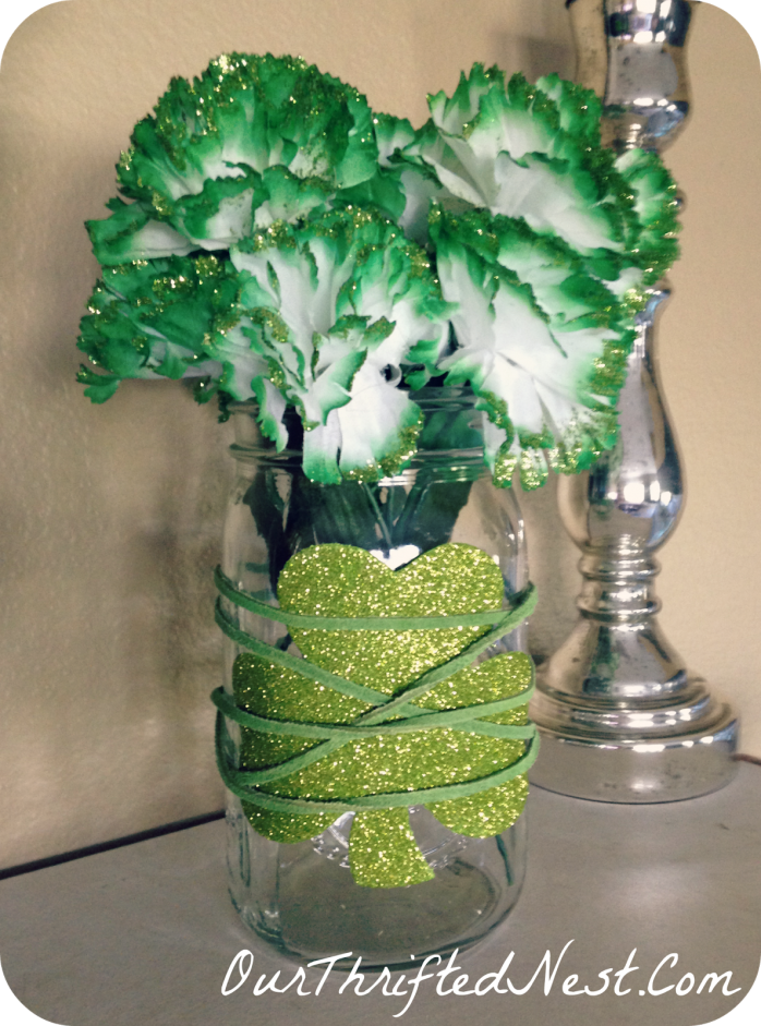 St. Patrick's Day Mantle Decor by Our Thrifted Nest