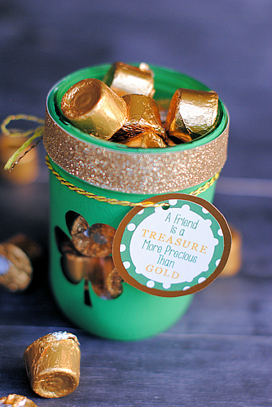 St. Patrick's Day Treat Jar by Crazy Little Projects for The DecoArt Blog